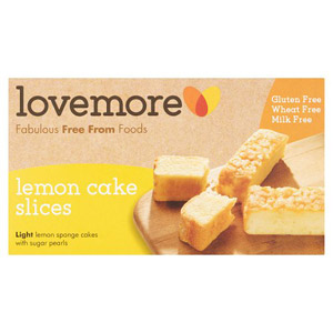 Lovemore Gluten Free Lemon Cake Slices