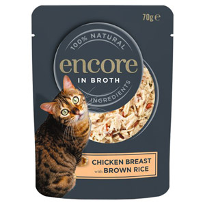 Encore Chicken & Brown Rice Cat Pouch