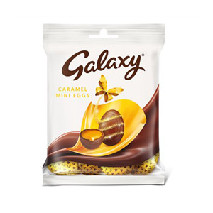Galaxy Caramel Mini Eggs Bag