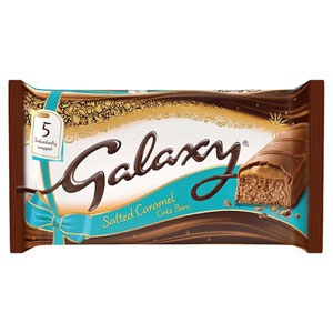 Galaxy Salted Caramel Cake Bars 5 Pack