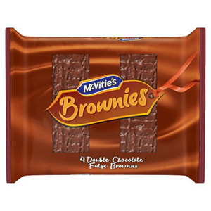 McVities Double Chocolate & Fudge Brownie Squares 4 Pack