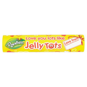 Rowntrees Love You Lots Like Jelly Tots Tube