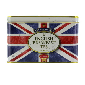 New English Teas Union Jack Tin with 40 Teabags