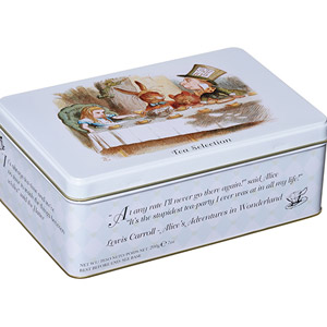 New English Teas Alice in Wonderland Tin 100 Teabags