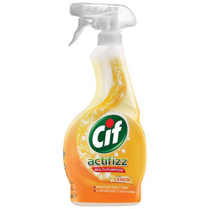 Cif Multi Purpose Acti Fizz Spray Lemon