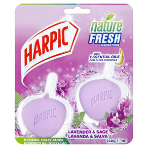 Harpic Active Fresh Toilet Block Lavender 2 x 40g