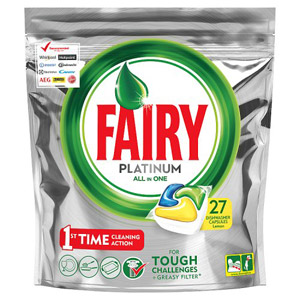 Fairy Dishwasher Platinum Tablets Lemon 25 Pack