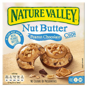 Nature Valley Nut Butter Cups Peanut & Chocolate Biscuits 4 Pack