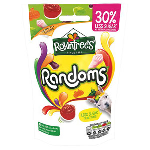 Rowntrees Randoms Sweets 30% Less Sugar Sharing Bag