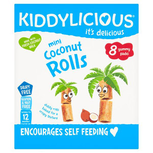 Kiddylicious Mini Coconut Rolls 8 Pack