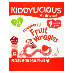 Kiddylicious Strawberry Wriggles Multi 4 Pack