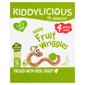 Kiddylicious Apple Wriggles Multi 4 Pack