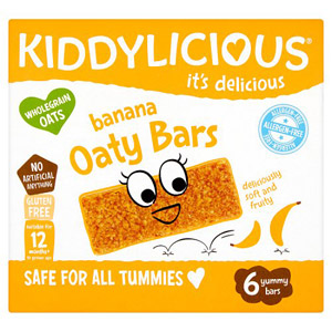 Kiddylicious Banana Allergen Free Oaty Bars 6 Pack