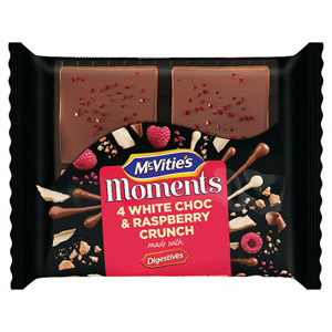 McVities Moments White Chocolate & Raspberry Crunch 4 Pack