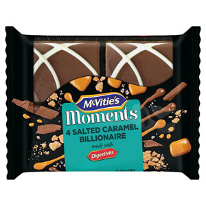 McVities Moments Salted Caramel Bilionnaire Slices 4 Pack