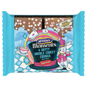 McVities Moments Double Choccy Crunch 4 Pack