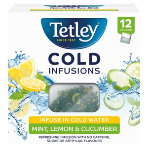 Tetley Cold Infusions Cucumber Mint & Lemon Teabags 12 Pack
