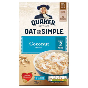 Quaker Oat So Simple Coconut Porridge 10 Pack