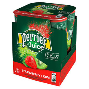Perrier & Juice Sparkling Strawberry & Kiwi Water 4 Pack