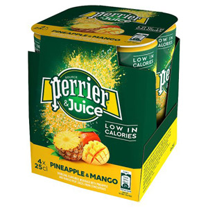 Perrier & Juice Sparkling Pineapple & Mango Water 4 Pack