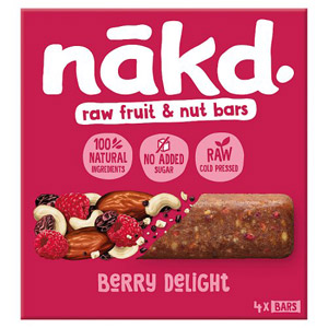 Nakd Free From Berry Delight Multipack 4 Pack