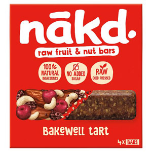 Nakd Bakewell Tart Fruit & Nut Bar Multipack 4 Pack