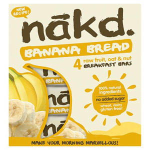 Nakd Wheat & Dairy Free Banana Bread Multipack 4 Pack