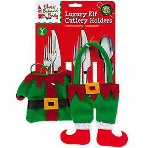 Set of 2 Luxury Elf Cutlery Holders
