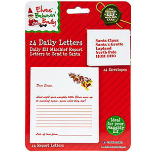 Daily Letter to Santa with Assorted Envelopes 24 Pack