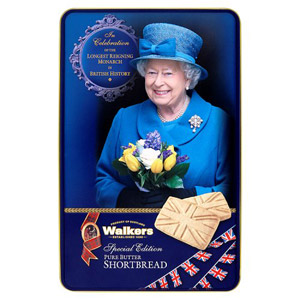 Walkers The Queen Blue Tin