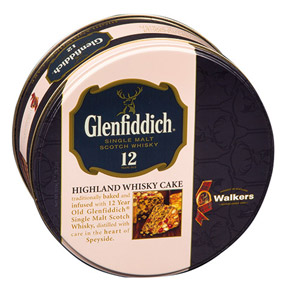 Walkers Glenfiddich Highland Whisky Cake Tin