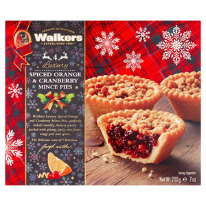 Walkers Spiced Orange & Cranberry Mince Pies