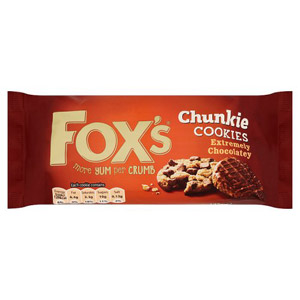 Foxs Chunkie Cookies Extremely Chocolate