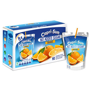 Capri Sun Orange No Added Sugar 8 Pack