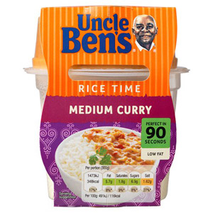 Uncle Bens Rice Time Medium Curry