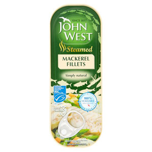 John West Steamed Mackerel Fillets Natural