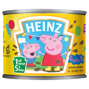 Heinz Shaped Pasta Peppa Pig