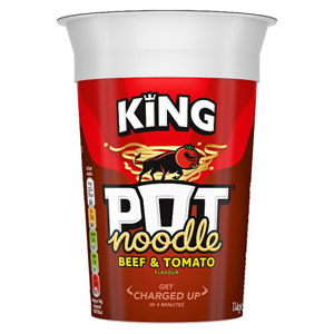 King Pot Noodle Beef & Tomato