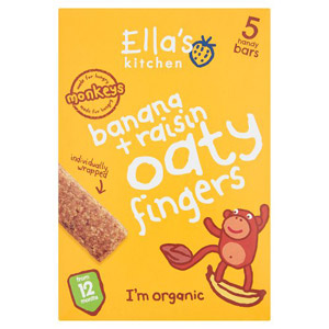 Ellas Kitchen 12 Month Banana & Raisin Nibbly Fingers 5 Pack