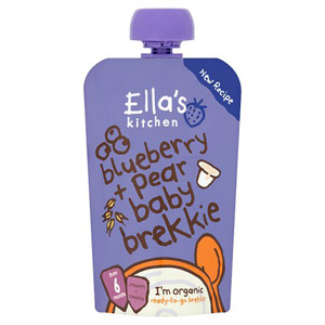 Ellas Kitchen 6 Month Blueberry & Pear Baby Brekkie