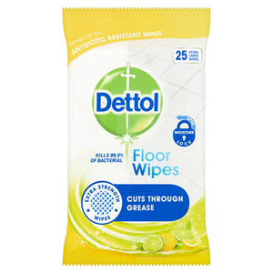 Dettol Floor Wipes Citrus 15 Pack