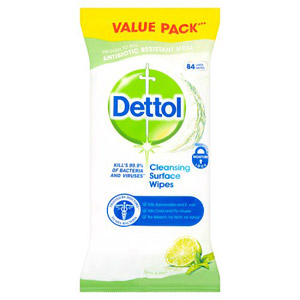 Dettol Surface Cleanser Wipes Lime & Mint 84 Pack