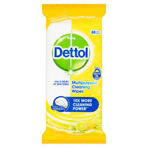 Dettol Multi Action Wipes Citrus 70 Pack