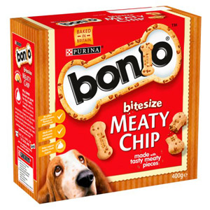 Bonio Meaty Chip Biscuits Bitesize