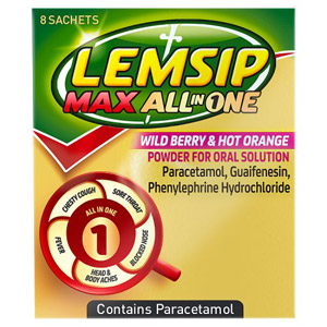 Lemsip Max All In One Berry & Orange 8s