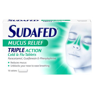 Sudafed Mucus Relief Tablets 16s