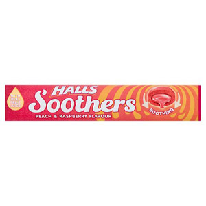 Halls Soothers Peach & Raspberry 10s