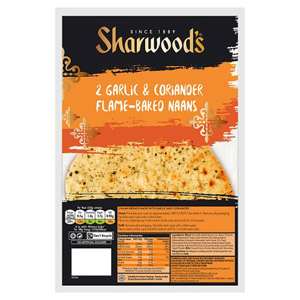 Sharwoods Garlic & Coriander Naan 2 Pack