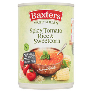 Baxters Vegetarian Spicy Tomato Rice & Sweetcorn Soup