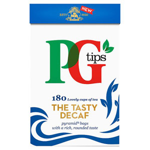 PG Tips Pyramid Decaffeinated 160 Teabags